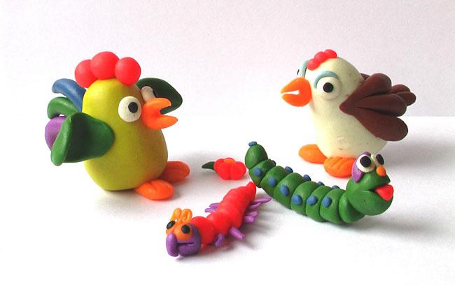 Фигурки из пластилина