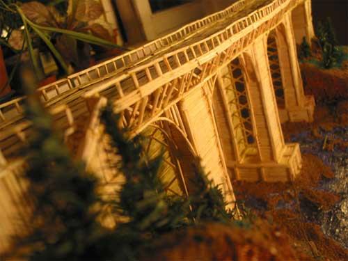 Поделка мостик из спичек 8
