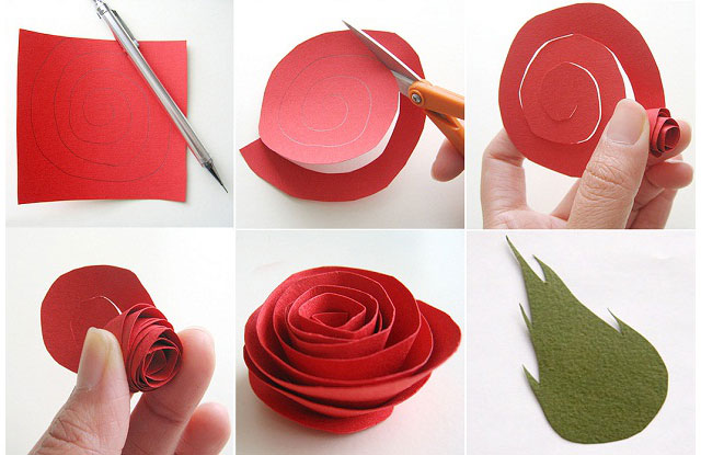 Как сделать из бумаги розу