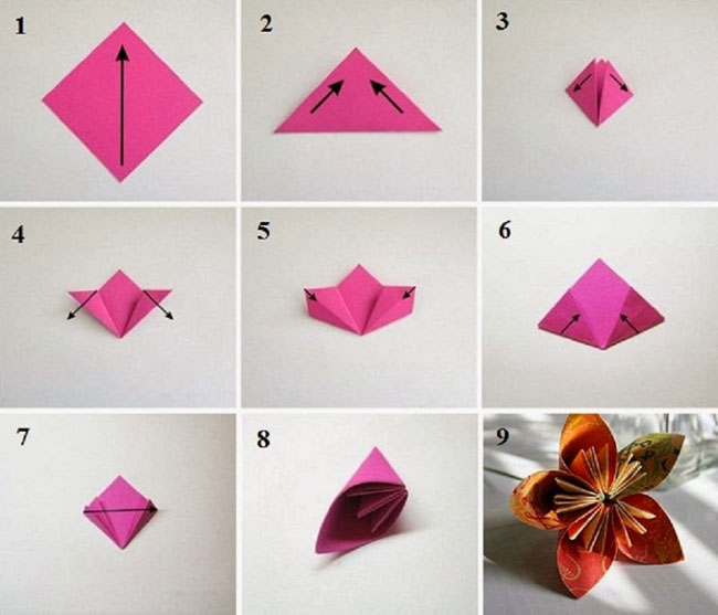 Цветок из бумаги поделки