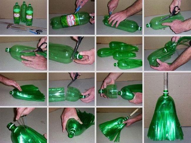 Веник из пластиковых бутылок