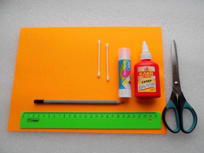 Инструменты и материалы для изготовления розы из бумаги