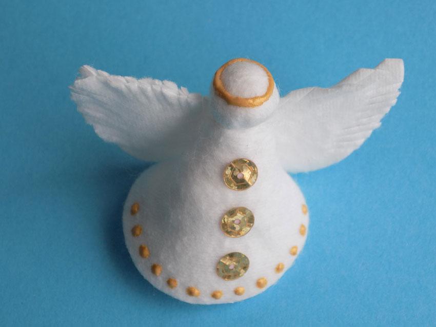 Как сделать ангелочек из ватного диска