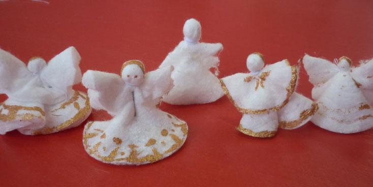 Ангелочки из ватных дисков своими руками поэтапно