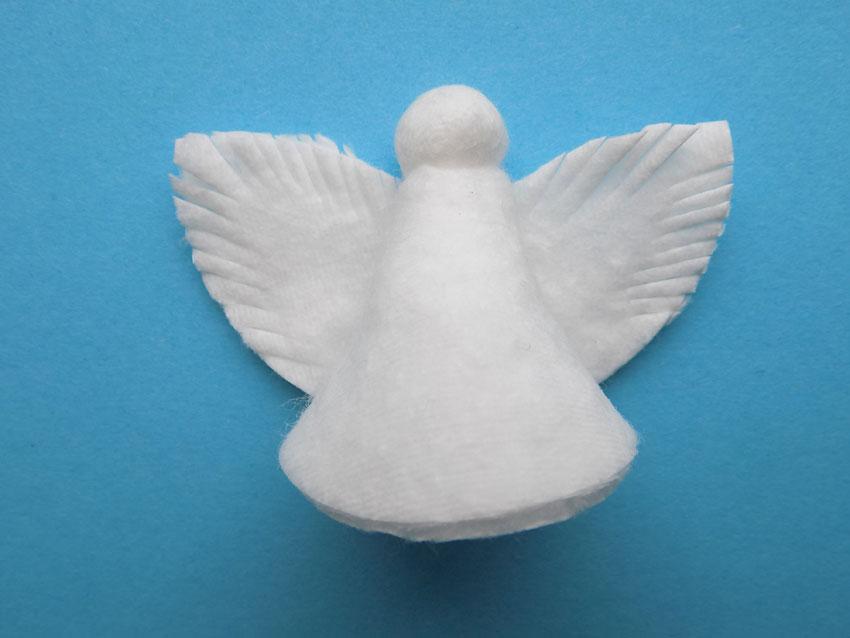 Как сделать ангелочка с ватных дисков