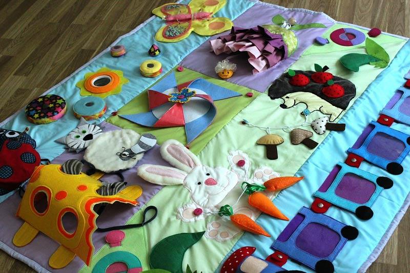 Детские развивающие коврики своими руками для детей